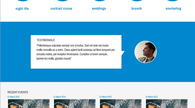 UberVida home page photoshop layout