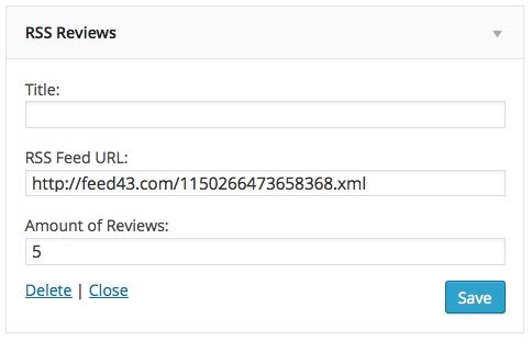 rss reviews widget